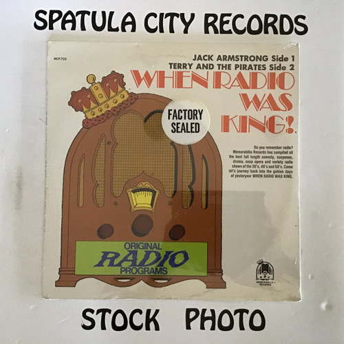 Jack Armstrong/Terry and The Pirates - When Radio Was King series - SEALED - vinyl record LP-