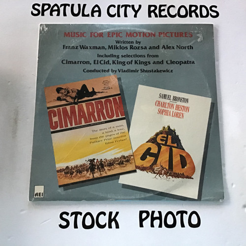 Franz Waxman, Miklos Rozsa and Alex North - Music for Epic Motion Pictures - soundtrack - SEALED - vinyl record LP