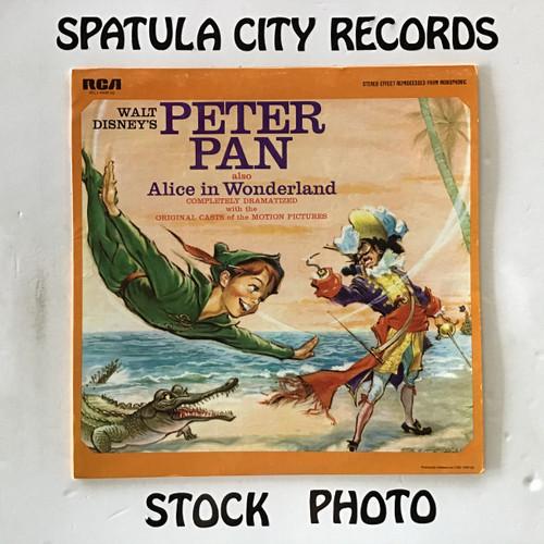 Walt Disney's Peter Pan also Alice in Wonderland - soundtrack - vinyl record LP