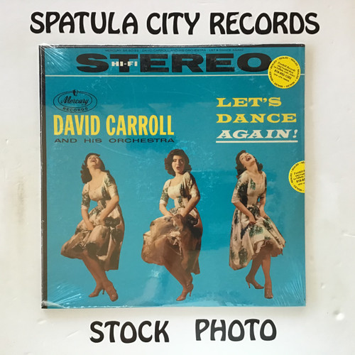 David Carroll and His Orchestra - Let's Dance Again - SEALED - vinyl record LP