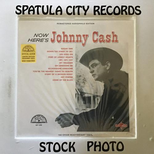 Copy of Johnny Cash - Now Here's Johnny  - SEALED  180g Reissue RED vinyl  - vinyl record LP