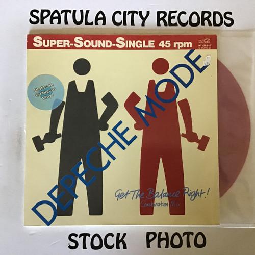 "Depeche Mode - Get the Balance Right - IMPORT RED VINYL - 12"" single record album EP LP"