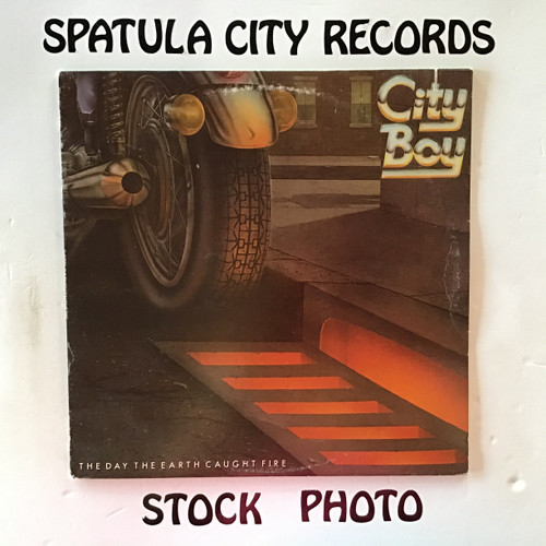 City Boy - The Day the Earth Caught Fire - vinyl record LP