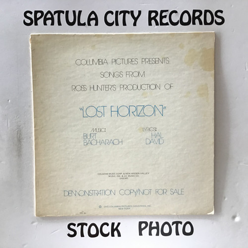 Burt Bacharach / Hal David - Columbia Picture Presents Songs from Ross Hunter's Production of Lost Horizon - PROMO - vinyl record LP
