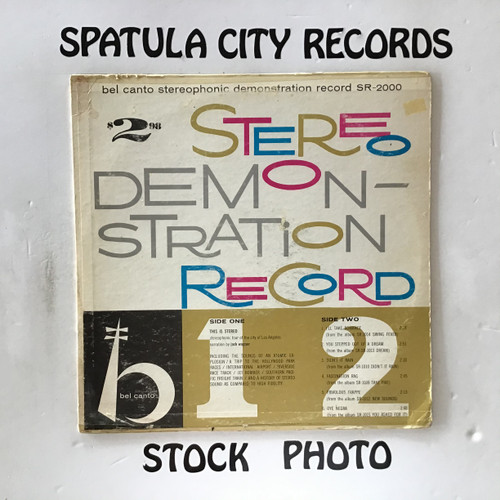 Bel Canto Stereophonic Demonstration Record - compilation - vinyl record LP