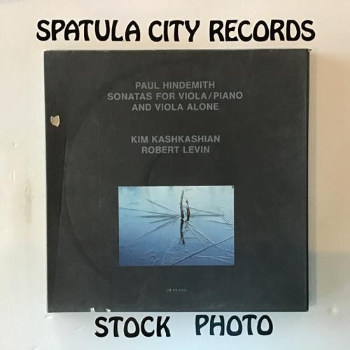 Paul Hindemith, Kim Kashkashian, Robert Levin - Sonatas for Viola/Piano and Viola Alone - IMPORT - triple vinyl record LP