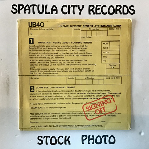 UB40 - Signing Off - IMPORT - vinyl record LP