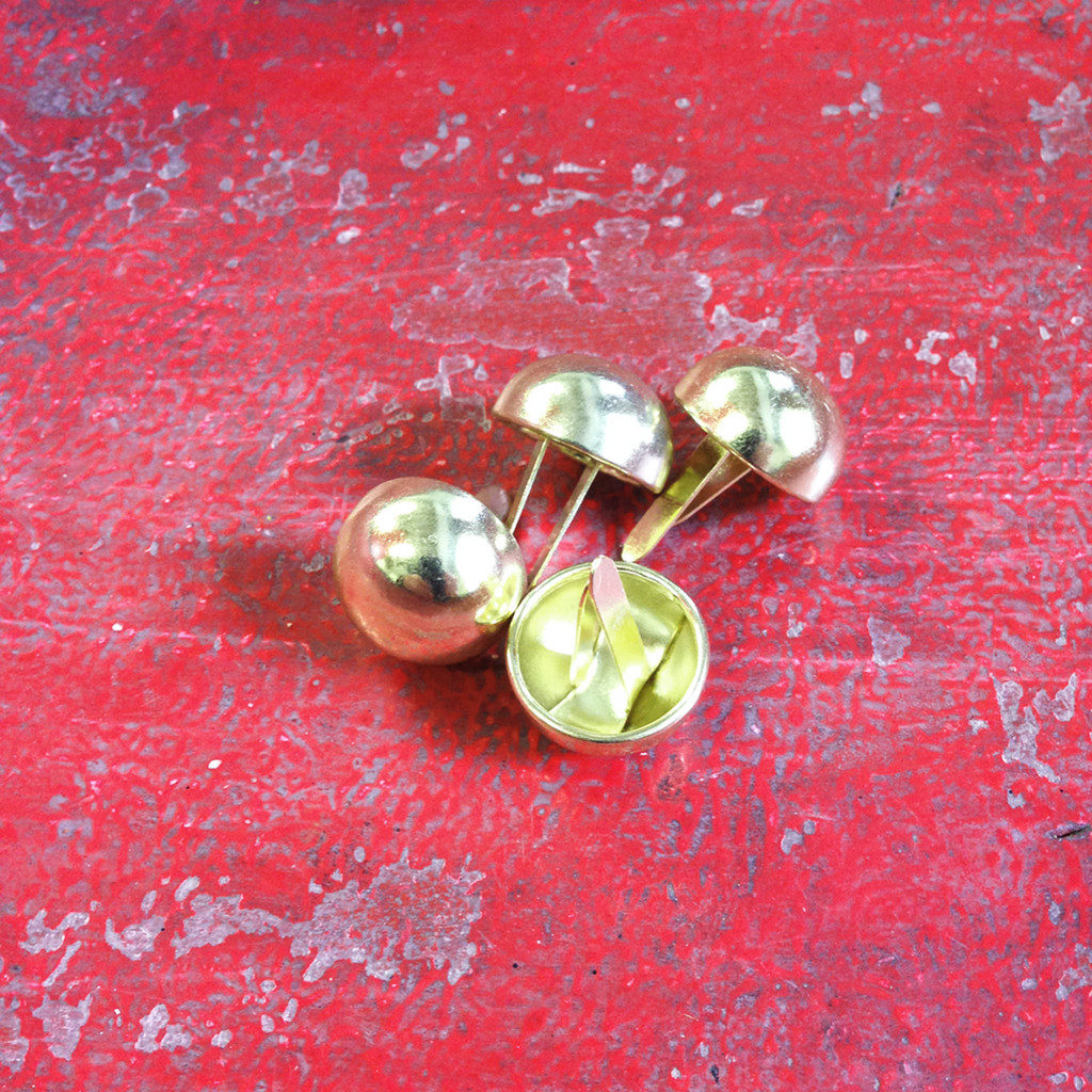 Brass Plate Half-Round Bag Feet