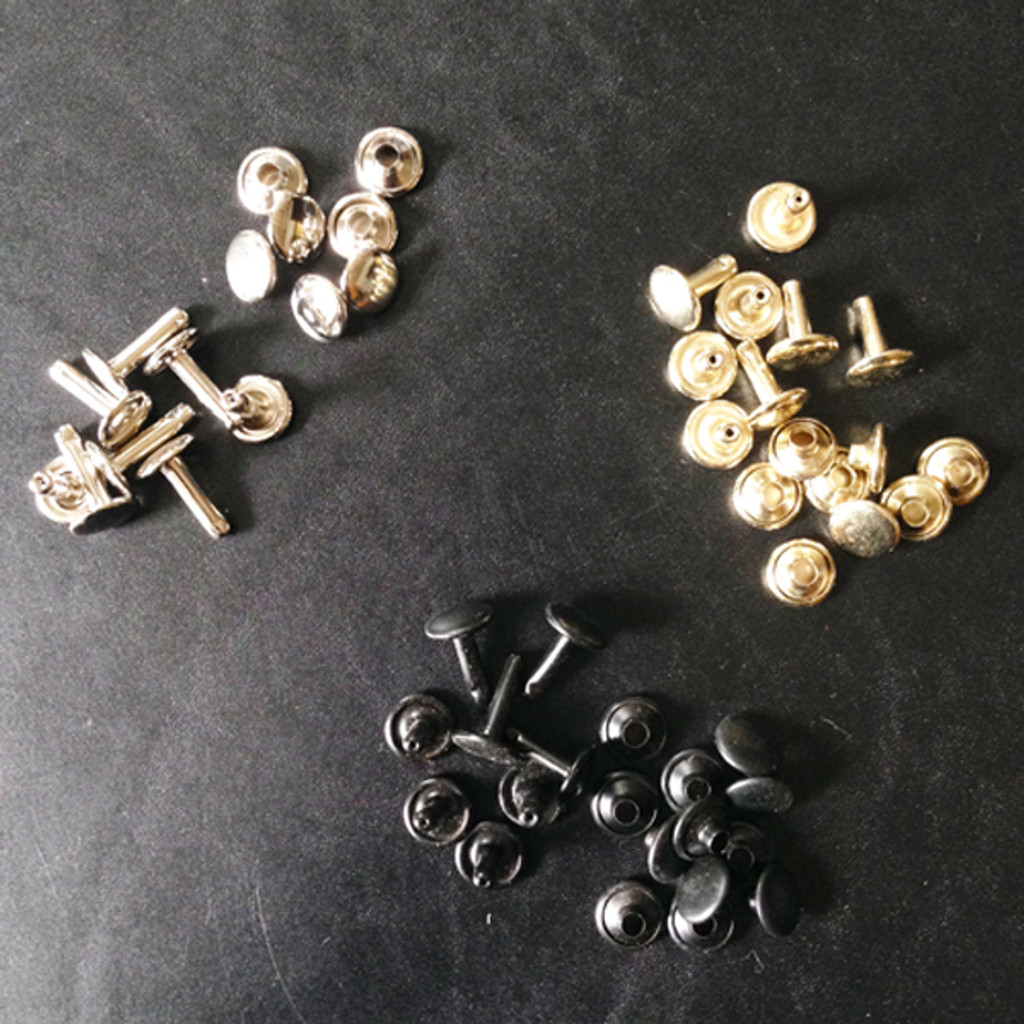 Rivets - Black, Nickel Plated & Brass Plated