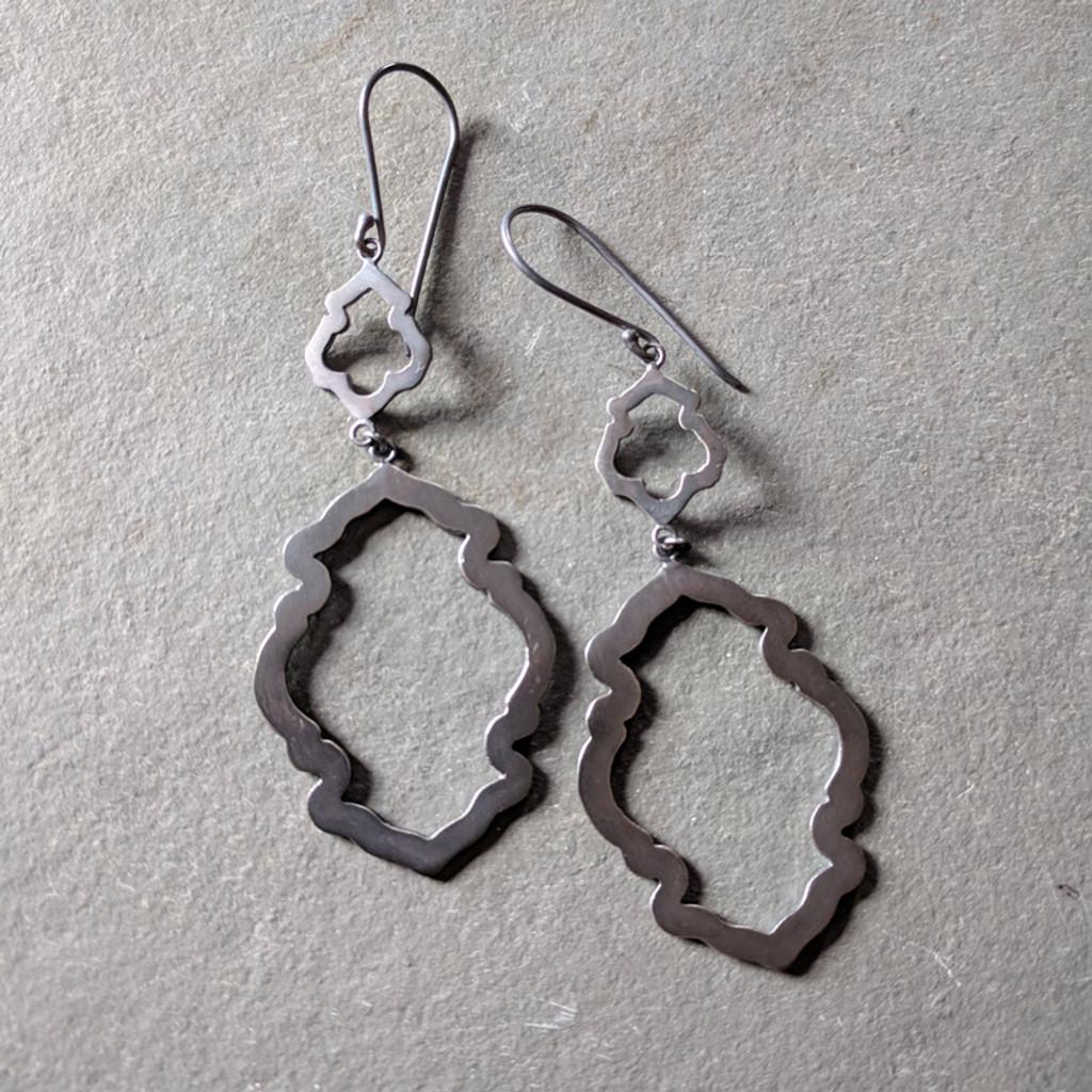 Peony Earrings No. 2 Patina