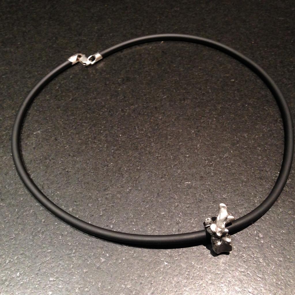 Small Pewter Lumbar Vertebra Necklace