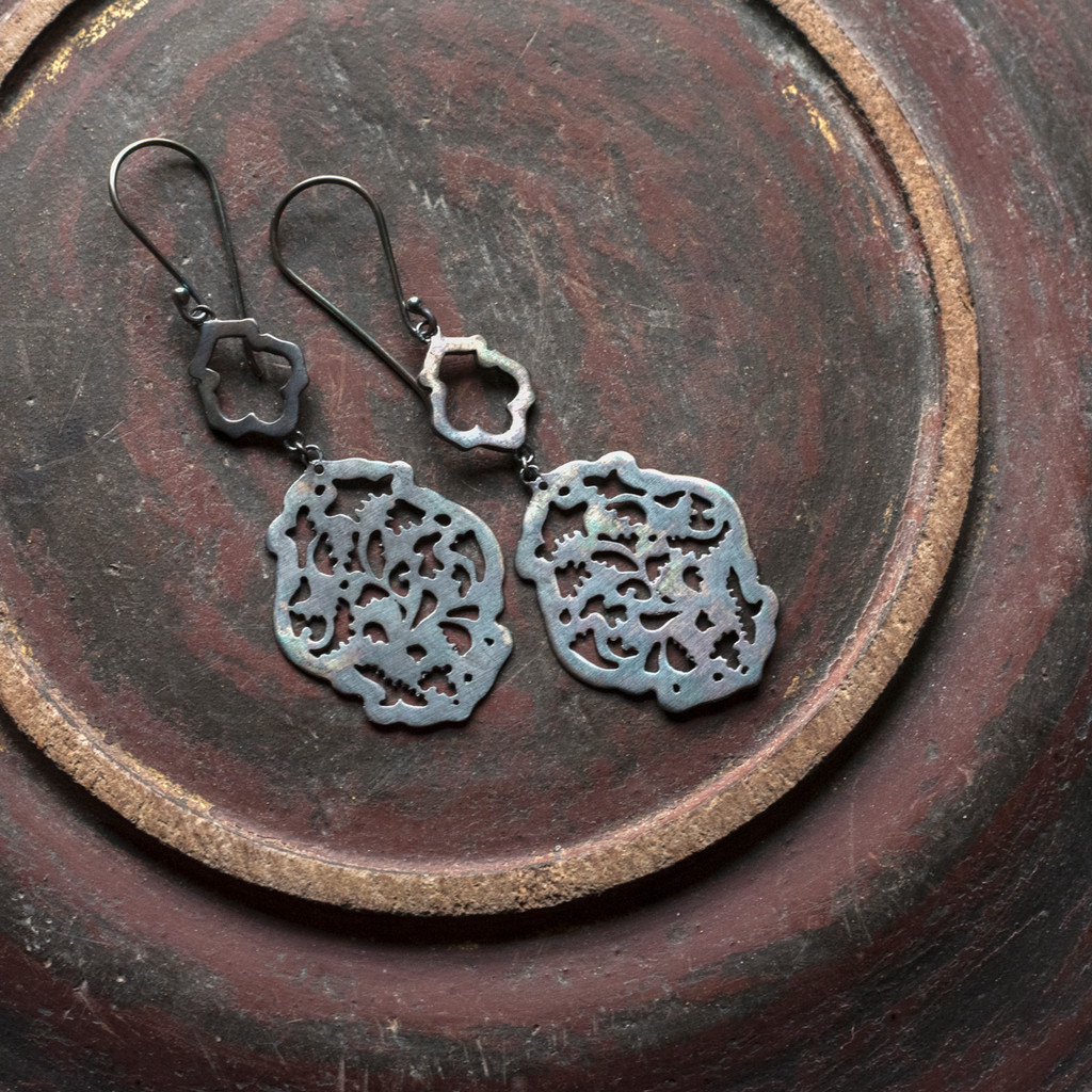 Acanthus Earrings No. 3 Patina