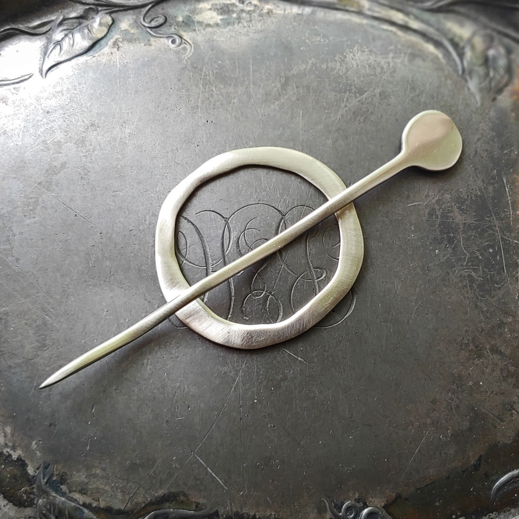 Mid-Century Modern Circle Shawl Pin