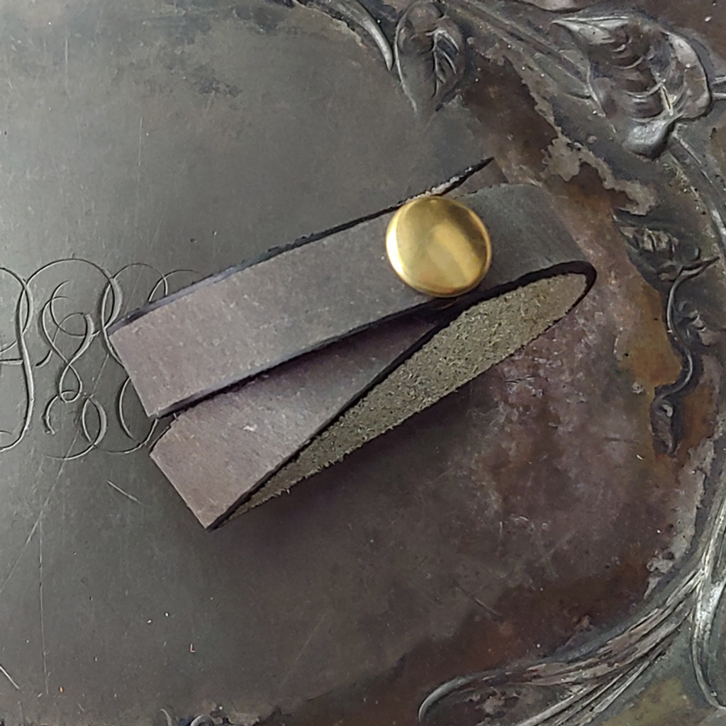 Pewter with brass