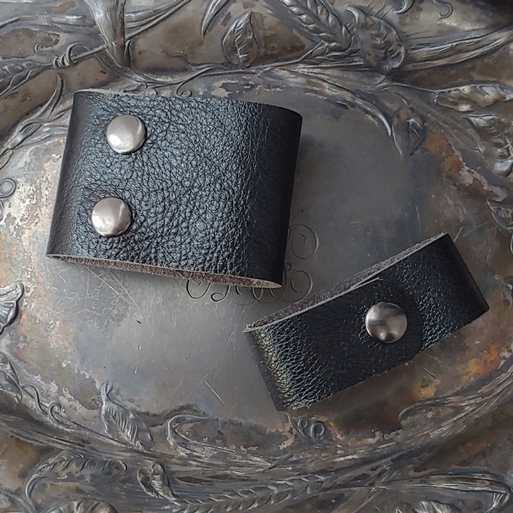 Black Diamond Leather Cuff