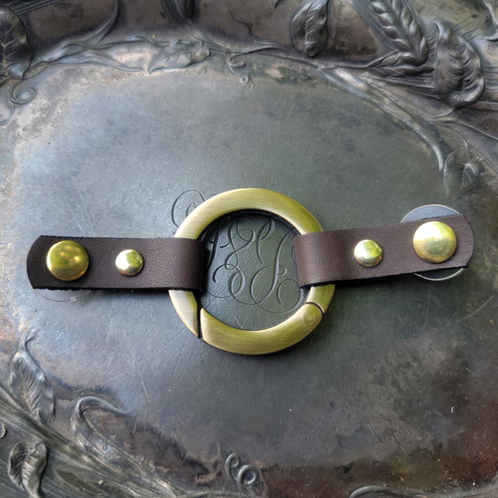 Small-Tab Cordoba Ring Closure - Antique Brass