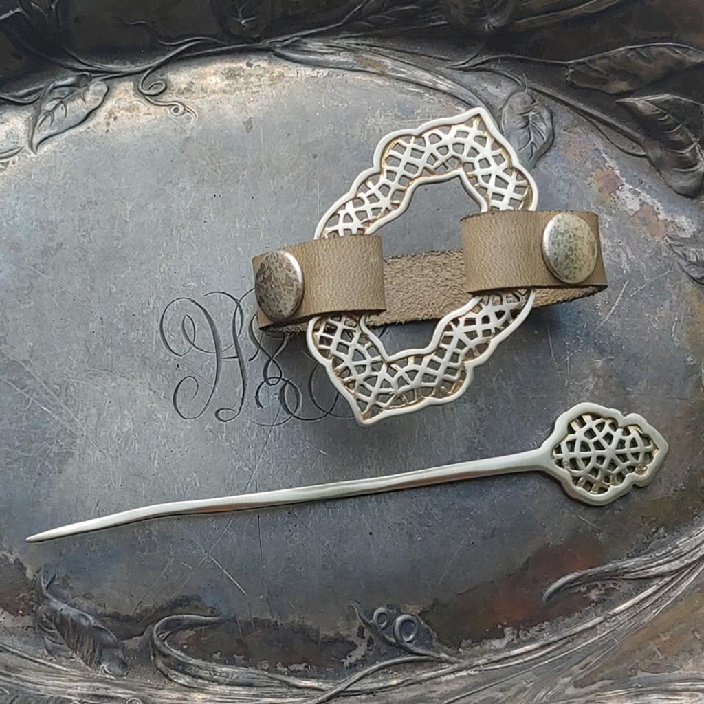 Moroccan Windows Cuff / Shawl Pin