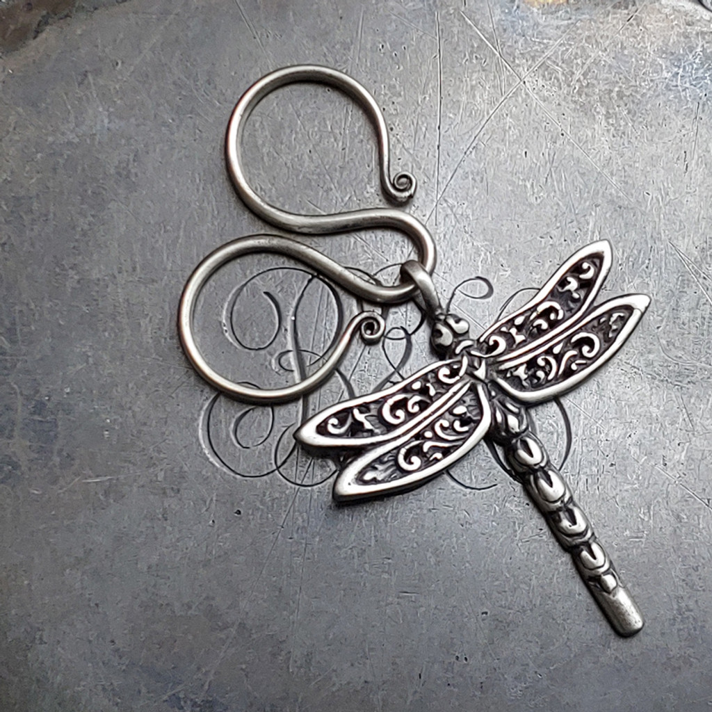 Oxbow Charm Lock with Dragonfly Charm