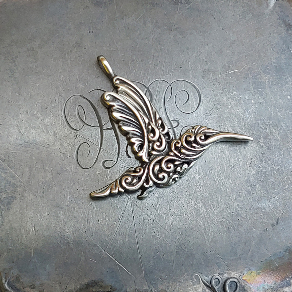 Filigree Hummingbird Charm