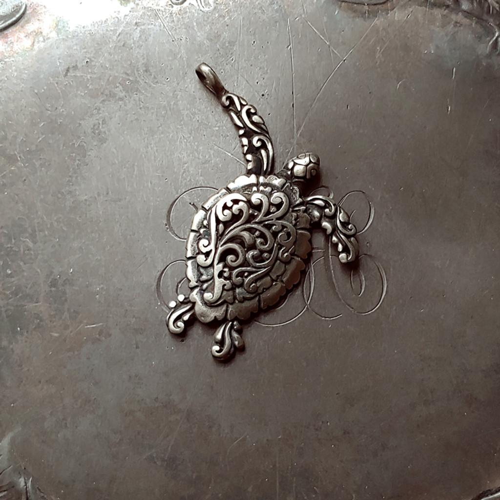 Filigree Sea Turtle Charm