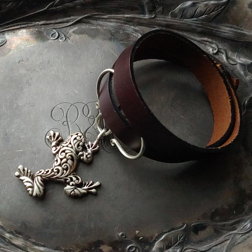 Tree Frog Oxbow Double-Wrap Charm Lock Cuff