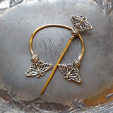 Filigree Monarch Butterfly Penannular Brooch