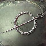 Camellia Garden Shawl Pin