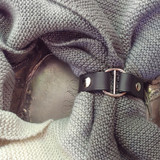 Hidden Snap Leather Shawl Cuff