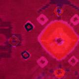 Endek Jumputan - Pink with Purple Borders