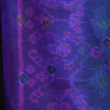 Endek Jumputan - Indigo with Purple Borders