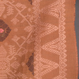 Songket Alam - Bronze and Coral with Aubergine and Rose Diamonds