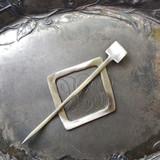 Mid Century Modern Square Cuff / Shawl Pin
