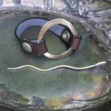Mid Century Modern Circle Cuff / Shawl Pin