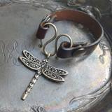 Dragonfly Serpentine Single-Wrap Charm Lock Cuff