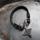 Monarch Serpentine Single-Wrap Charm Lock Cuff