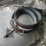 Monarch Oxbow Double-Wrap Charm Lock Cuff