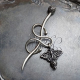 Monarch Filigree Charm Lock Shawl Pin