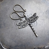 Serpentine Charm Lock with Dragonfly Charm