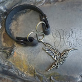 Hummingbird Serpentine Single-Wrap Charm Lock Cuff
