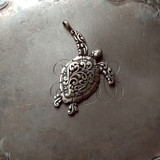Filigree Sea Turtle Charm