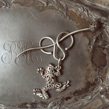 Filigree Tree Frog Charm Lock Shawl Pin
