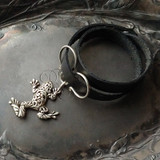 Tree Frog Oxbow Double-Wrap Charm Lock Cuff