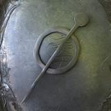 Black Circle Mid-Century Modern Shawl Pin