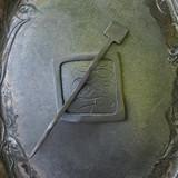 Black Square Mid-Century Modern Shawl Pin
