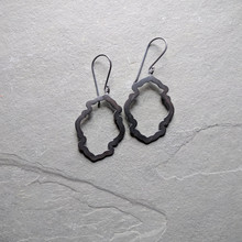 Peony Earrings No. 1 Patina