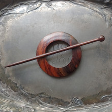 Classic Rosewood Round Shawl Pin