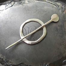 Mid-Century Modern Circle Shawl Pin