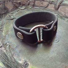 Hidden Snap Leather Shawl Cuff