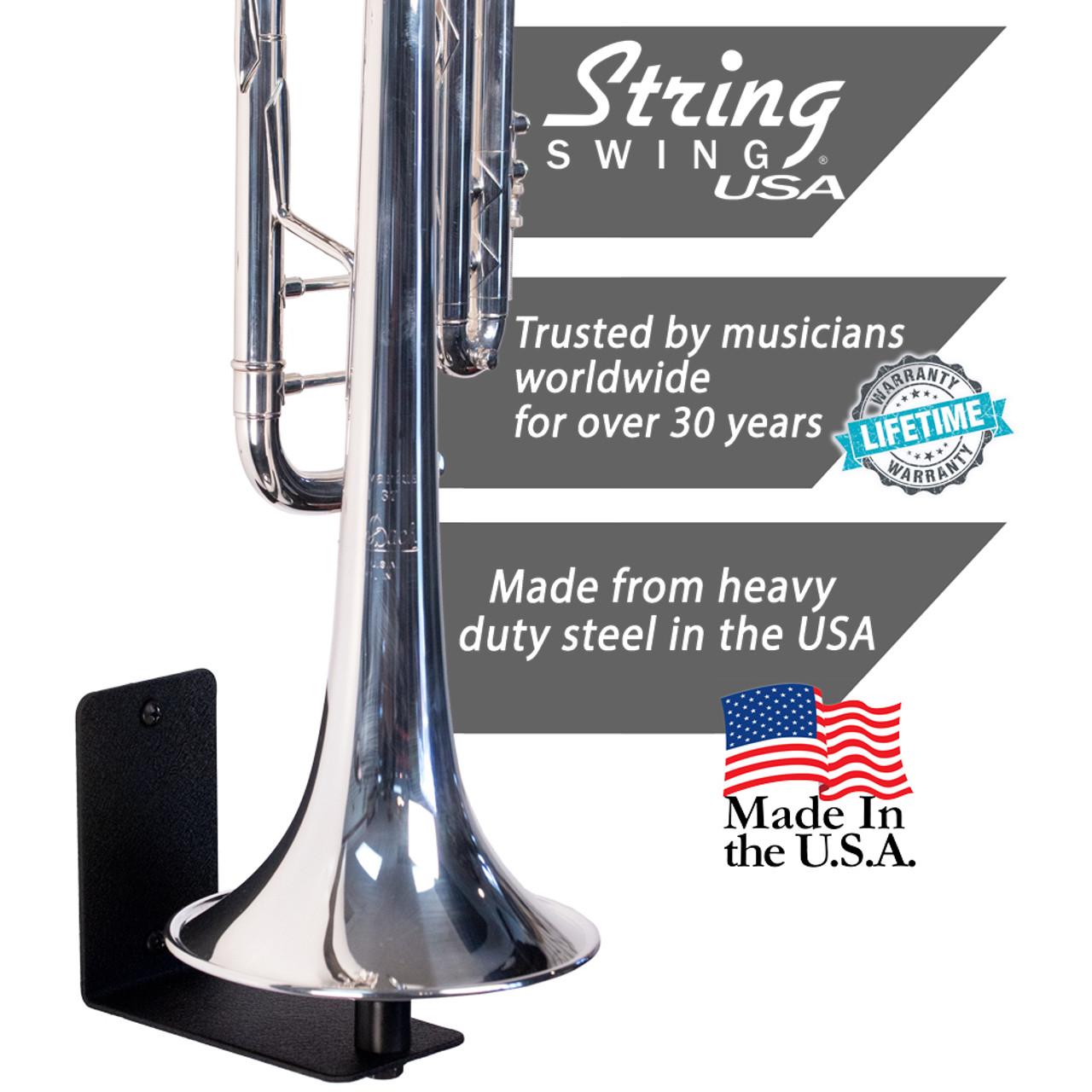 SDENSHI Trumpet Wall Hanger Brass Instrument Trumpet Holder Wall Mount as described