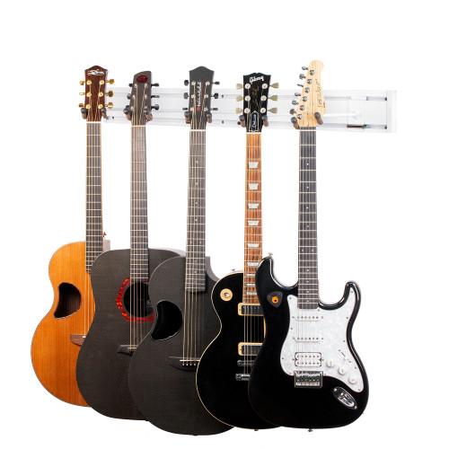 White Guitar Wall Rack
